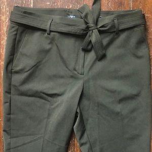 NWT LOFT Marisa fit green pants
